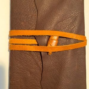 NWT Italy Made Soft Real Leather Journal Lined